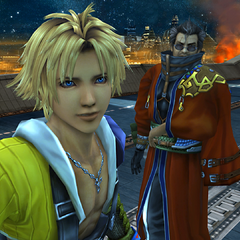 Tidus and Auron in Zanarkand.