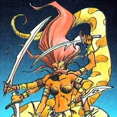 Artwork of Marilith for <i>Nintendo Power</i>.