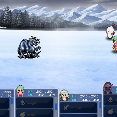The battle in the iOS/Android version.