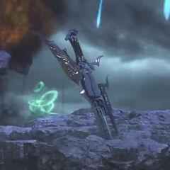 Gunblade in-game in <i><a href=