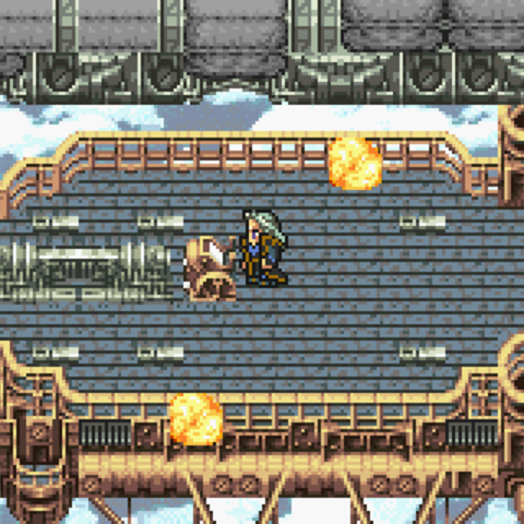 FFVI GBA Battle over the Floating Continent (GBA).