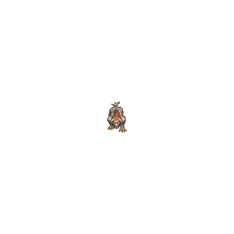 In-game sprite from the PSP and iOS version.