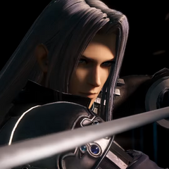 Promotional art of Sephiroth for the arcade version of <i>Dissidia</i>.