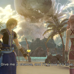 Noel and Serah on the beach.
