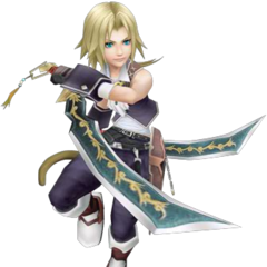 Zidane's first alt outfit, based on his Amano artwork.