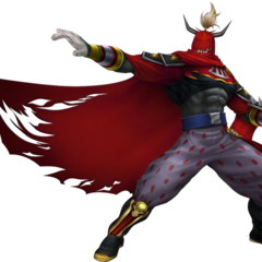 Gilgamesh's <i>Final Fantasy VIII</i> incarnation render in <i>Dissidia 012</i>.