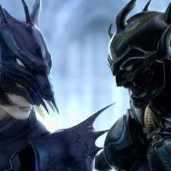 Kain fights Dark Knight Cecil in the opening FMV (PC).