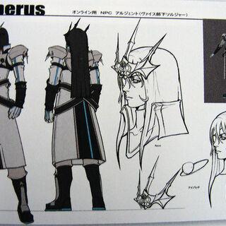 Artwork of Argento by Tetsuya Nomura.