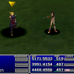 Yuffie using Morph in <i><a href=