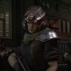 Shinra infantryman in Final Fantasy VII Remake.