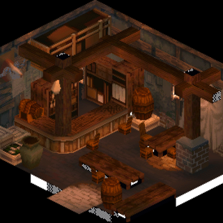 The inside of Gollund's pub, visited during a sidequest.