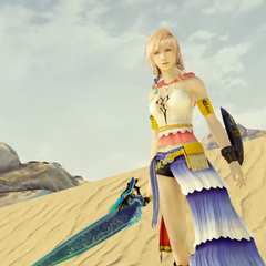 Yuna's Gunner dressphere in <i>Lightning Returns: Final Fantasy XIII</i>.