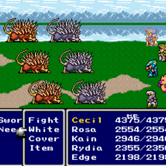 Rydia as a pig (SNES).