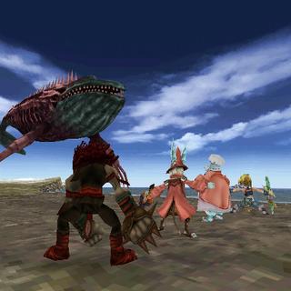 Whale Zombie in battle.