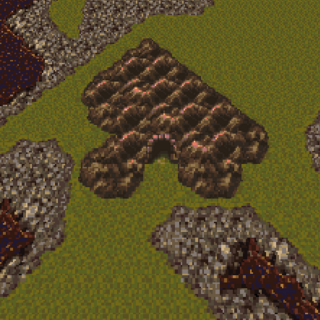 Cave on the Veldt on the world map (SNES).