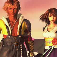 Tidus and Yuna before fighting Sin.