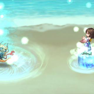 Aemo, as Yuna, performing the Sending.