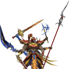 Gilgamesh's true form render in <i>Dissidia 012</i>.
