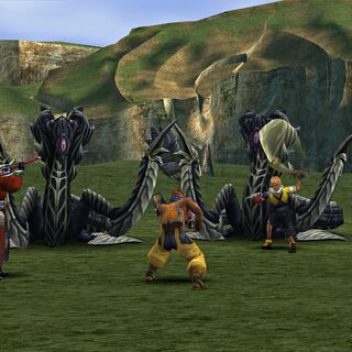 Anacondaurs in battle.