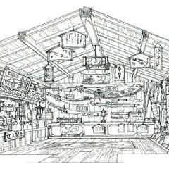 Weapon Shop concept art.