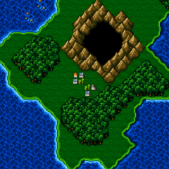 Agart on the World Map (SNES).