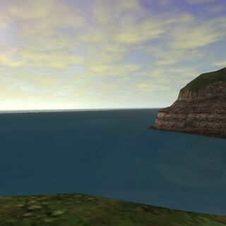 The Senroh Sea at sunrise.