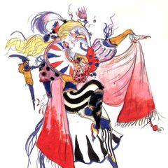 Рисунок Ёситака Амано в стиле чиби.