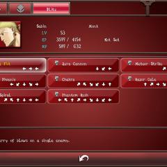 Sabin's Blitz menu (Android).