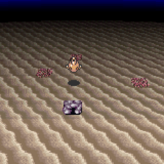 Ghido's Cave at the seafloor (GBA).