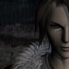 Squall without his scar in the opening FMV.