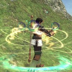 A male Hume Summoner summoning in <i><a href=
