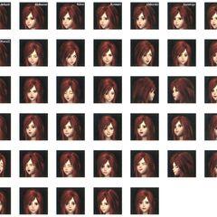 Princess Garnet Faces.