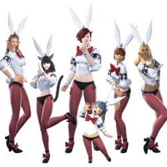 Bunny costumes.