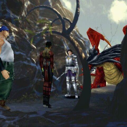Laguna, Kiros, Ward and the Ruby Dragon.
