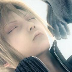 Fenrir with Cloud in <i>Final Fantasy VII: Advent Children</i>.