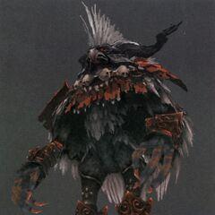 Concept art of a Yagudo Notorious Monster.