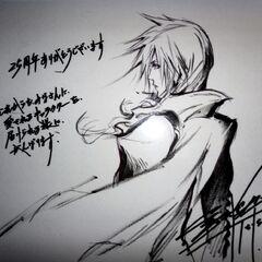 Lightning by Tetsuya Nomura for London's <i>Final Fantasy 25th Anniversary</i> event.