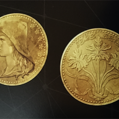 Sylleblossom on the Oracle Ascension Coin.