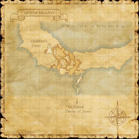 A map of Qufim Island.