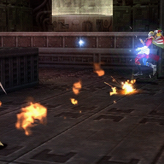 Fire used by Terra in <i>Dissidia</i>.