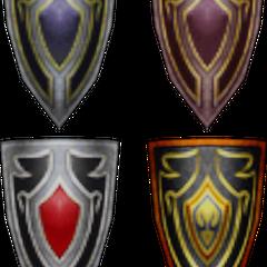 The Warrior's shields.