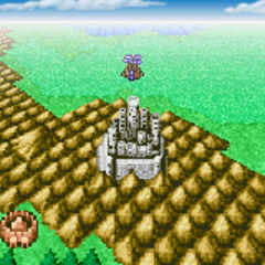 Castle Palamecia on the World Map (GBA).