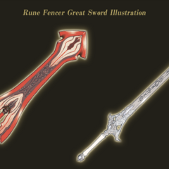Concept artwork of the Epeolatry and Aettir Greatswords.