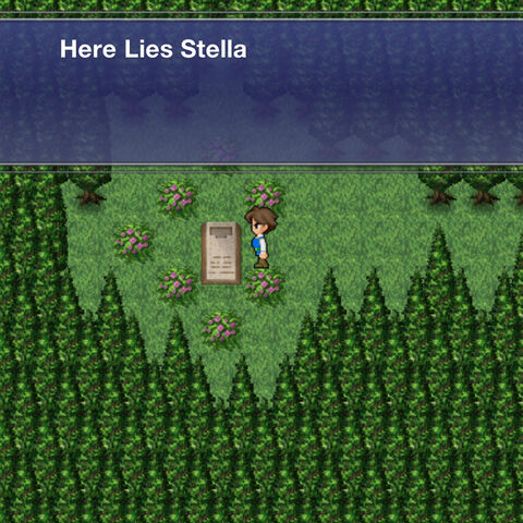 Stella's grave in <a href=