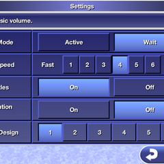 Settings in the iOS version.