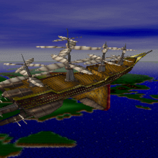 The <i>Enterprise</i> as it appears on the <i>Final Fantasy Extra Collection</i> PS CD-ROM.