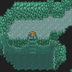 A healing spring at Pirates' Hideout in <i><a href=