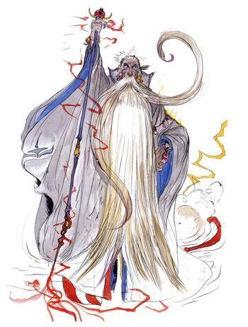 Изображение Раму в Final Fantasy V. Рисунок Ёситака Амано.