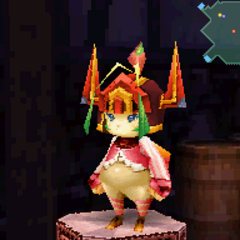 Flame Sallet in <i>Final Fantasy Crystal Chronicles: Ring of Fates</i>.