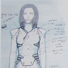 Aki's suit concept (front).